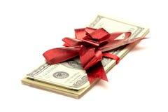 Dollar gift Stock Photography