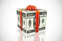 Dollar Gift Royalty Free Stock Photo