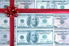 Dollar Gift. Royalty Free Stock Photography