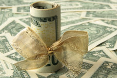 Dollar gift Royalty Free Stock Image