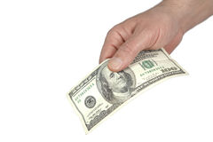 Dollar giving hand Royalty Free Stock Photo