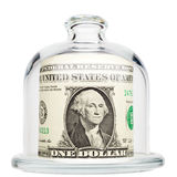 Dollar is a glass dome Royalty Free Stock Photo