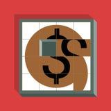 Dollar-gleitendes Puzzlespiel Lizenzfreie Stockbilder