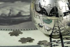 Dollar and globe. Stock Image