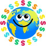 Dollar globe Stock Photography