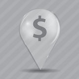 Dollar Glossy Icon Vector Illustration Royalty Free Stock Photos