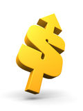 Dollar going up Royalty Free Stock Images