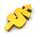 Dollar going up Royalty Free Stock Photography