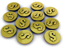 Dollar Gold Coin Stock Photography