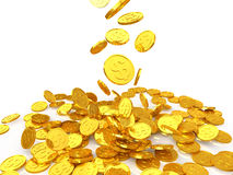 Dollar gold coin Stock Images