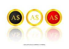 Dollar gold symbol Stock Photography