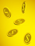 Dollar golden coins Stock Photography