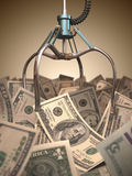 Dollar Grabber Game Stock Photos