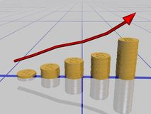 Dollar graph Royalty Free Stock Photography