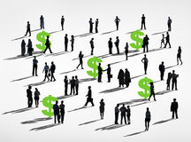 Dollar Green Business Community Financial Collaboration Concept Stock Photo
