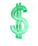 Dollar green sign 3d - 2 Royalty Free Stock Photos