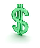 Dollar green sign 3d Royalty Free Stock Photo
