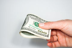 Dollar - the greenback against. A white background Royalty Free Stock Photography