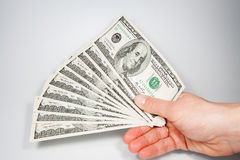 Dollar - the greenback against. A white background Stock Images
