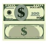 Dollar greenbacks icon, realistic style Stock Photos