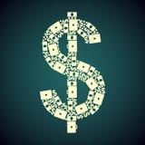 Dollar groen patroon Royalty-vrije Illustratie