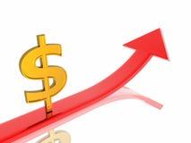 Dollar growth Stock Photography