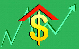 Dollar and growth chart Royalty Free Stock Image