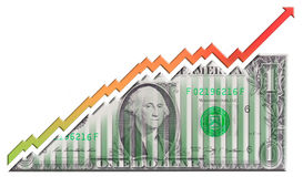 Dollar Growth Graph Stock Images