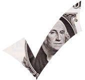 Dollar-Häckchen Stockbilder