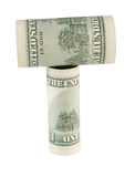 Dollar hammer of low Royalty Free Stock Image