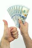 dollar hand Royaltyfri Bild
