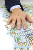 dollar hand Arkivbild