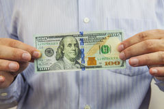 dollar hand Arkivbilder