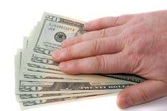 dollar handmanlig över Royaltyfria Bilder