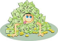 Dollar-Haufen Lizenzfreies Stockfoto