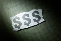 dollar headline symbol Στοκ φωτογραφίες με δικαίωμα ελεύθερης χρήσης