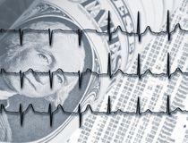 Dollar Health Check Stock Image
