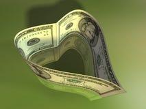 Dollar heart Stock Image