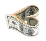 Dollar_heart Royalty Free Stock Image