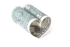 Dollar heart Stock Images