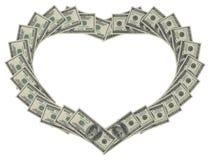 Dollar heart Royalty Free Stock Photography