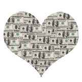 Dollar heart Stock Photos