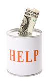 Dollar and help Box. Concept of financial support Royalty Free Stock Images