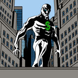 Dollar Hero in the city Stock Photos