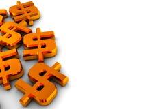 Dollar Hintergrund Lizenzfreies Stockfoto