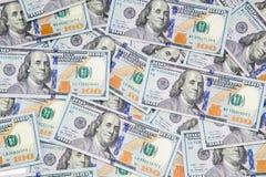 Dollar Hintergrund Amerikanische Dollar Bargeld- Hundert Dollarbanknoten Hundert Dollars Benjamin Franklins portrai lizenzfreies stockfoto