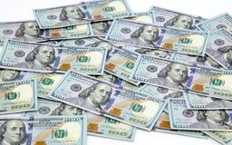 Dollar Hintergrund Amerikanische Dollar Bargeld- Hundert Dollarbanknoten Hundert Dollars Benjamin Franklins portrai lizenzfreie stockfotos