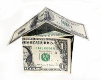 Dollar home. House made of us dollars Stock Images