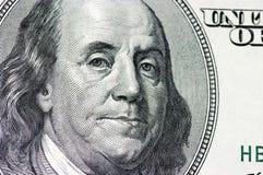 Dollar honderd Royalty-vrije Stock Afbeeldingen