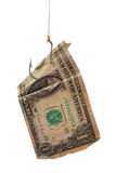 Dollar with hook Royalty Free Stock Photography